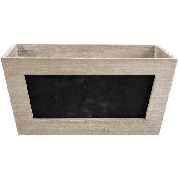 Mix The Media Wooden Chalkboard Planter 11inX6inX5in