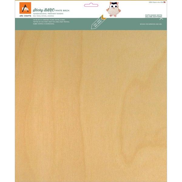 BARC Wood Sheet W/Adhesive Backing 12inX12in White Birch