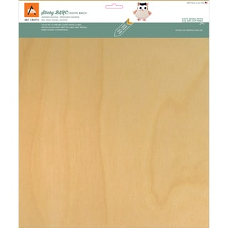 BARC Wood Sheet W/Adhesive Backing 12inX12in White Birch