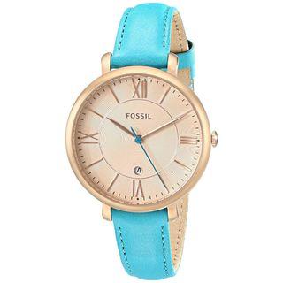 Fossil Women's ES3736 'Jacqueline' Blue Leather Watch