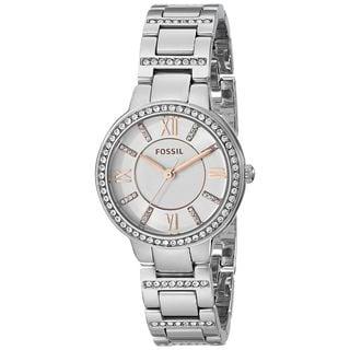 Fossil Women's ES3741 'Virginia' Crystal Stainless Steel Watch