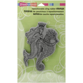 Stampendous Cling Rubber Stamp 7.75inX4.5in Pkg Seahorse Ride