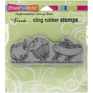 Stampednous Cling Rubber Stamp 4.75inX4.5in Pkg Lunch Line