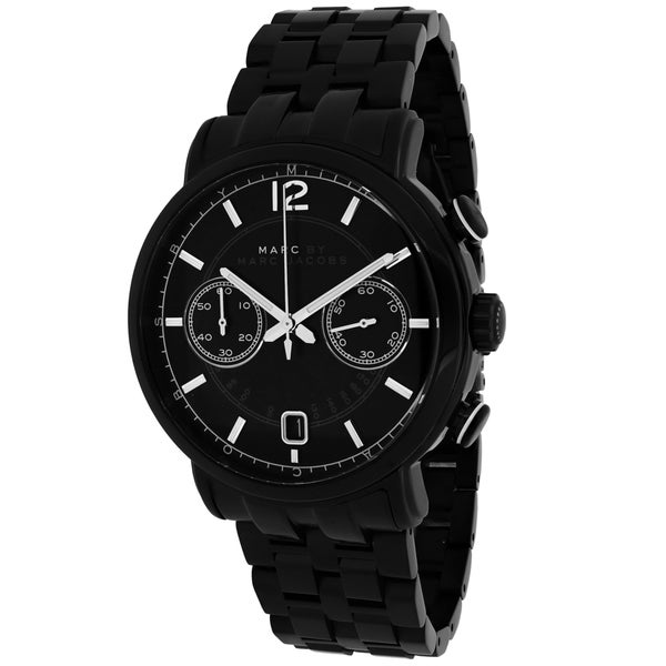 Marc Jacobs Women's MBM5065 'Fergus' Chronograph Black Stainless Steel Watch