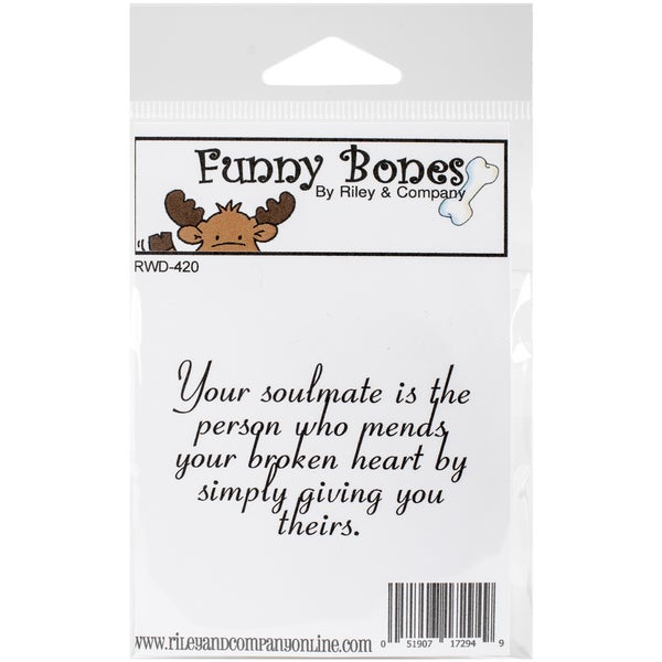 Riley & Company Funny Bones Cling Mounted Stamp 2.5inX1.75in Your Soulmate