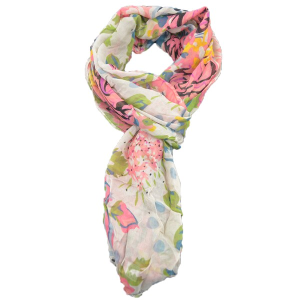 LA 77 Lightweight Rose Scarf