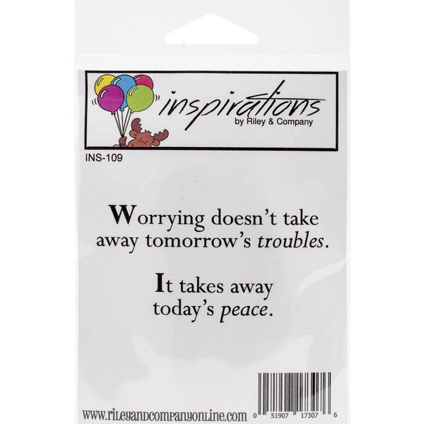 Riley & Company Inspirations Cling Mounted Stamp 3inX1.5in Worrying