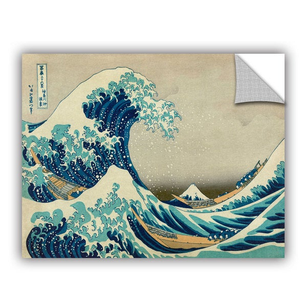 ArtAppealz Katsushika Hokusai 'The Great Wave Off Kanagawa' Removable Wall Art