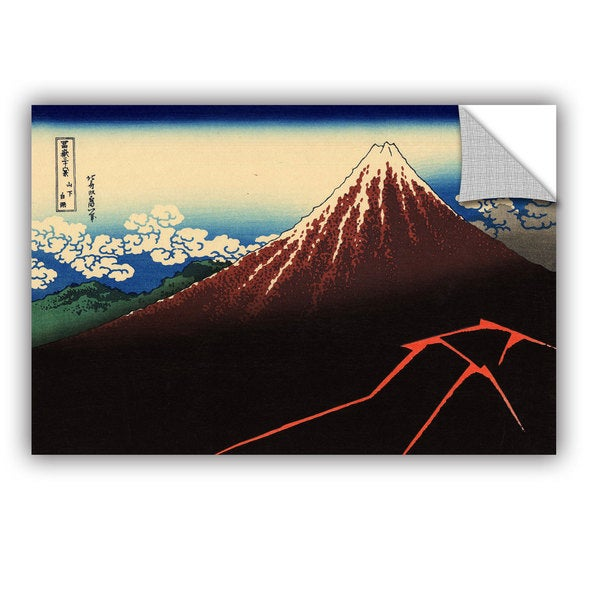 ArtAppealz Katsushika Hokusai 'Shower Below The Summit (Sanka Hakuu)' Removable Wall Art
