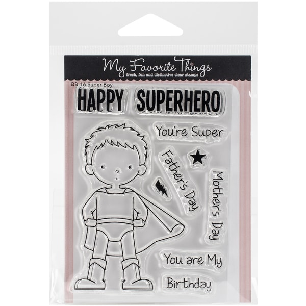 My Favorite Things Birdie Brown Stamps 4inX3in Sheet Super Boy