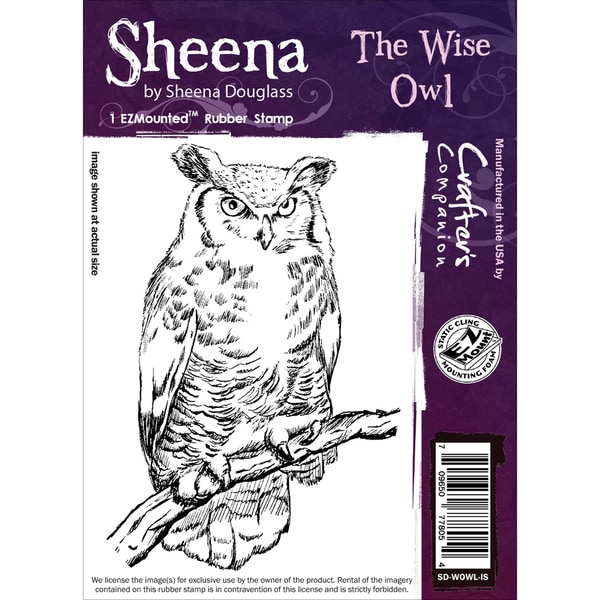 Sheena Douglass Cling Stamp The Wise Owl