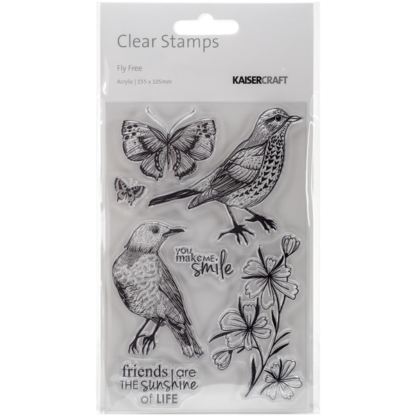 Fly Free Clear Stamps 6.25inX4in
