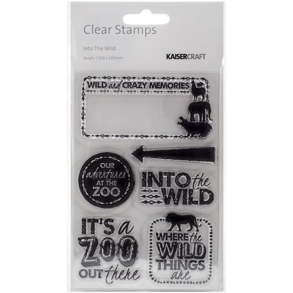 Into The Wild Clear Stamps 6.25inX4in