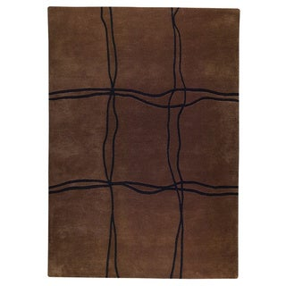 Hand Tufted Amst Brown Indo Area Rug (3' x 5'4)