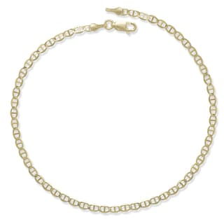 10k Yellow Gold 10-Inch 3.2mm Mariner Link Chain Anklet