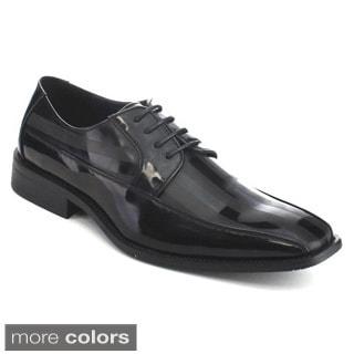 UV Signature UV008 Men's New Comfort Smooth Square Toe Lace Up Dress Oxford