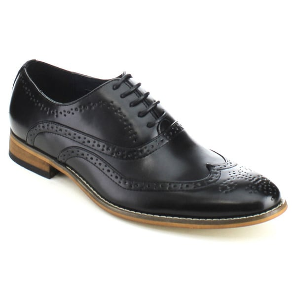 UV Signature UV002 Men's Wing Tip Lace Up Perforation Brogue Oxford