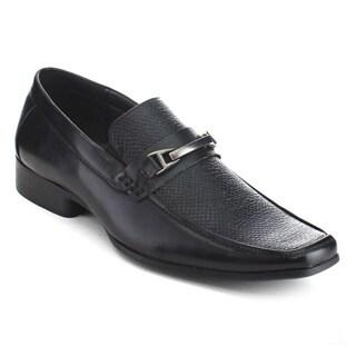 UV Signature UV007 Men's Square Toe Metal Detail Fashion Snaker Dress Loafers