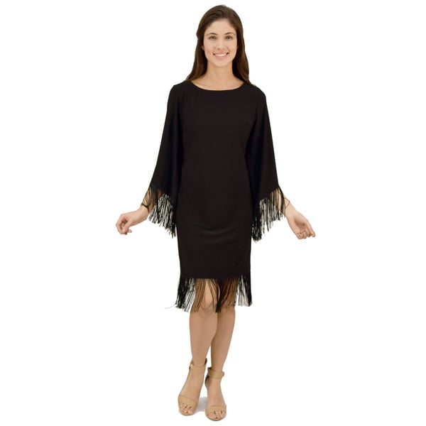 R&M Richards Fringe Cocktail Dress