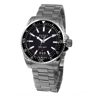 Gucci Men's YA136301 'Dive' Black Dial Stainless Steel Swiss Quartz Watch