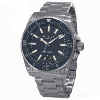 Gucci Men's YA136203 'Dive' Blue Dial Stainless Steel Swiss Quartz Watch