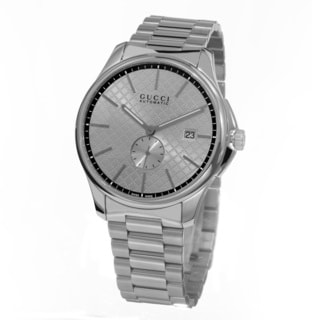 Gucci Men's YA126320 'Timeless' Silver Dial Stainless Steel Swiss Automatic Watch