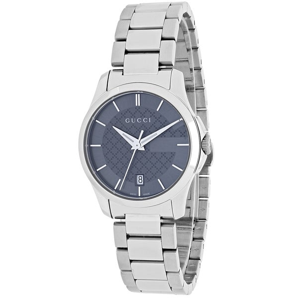 Gucci Women's YA126522 'Timeless' Grey Dial Stainless Steel Small Swiss Quartz Watch