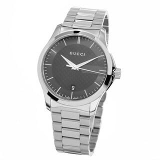 Gucci Women's YA126441 'Timeless' Grey Dial Stainless Steel Medium Swiss Quartz Watch