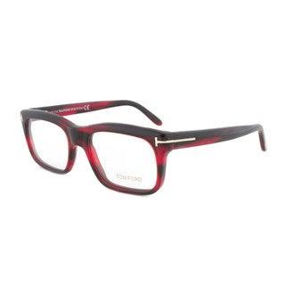 Tom Ford FT5284 071 Reddish Brown Rectangular Eyeglass Frames - Size 52