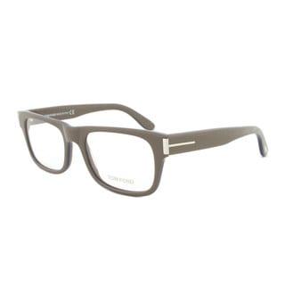 Tom Ford FT5274 090 Taupe Rectangular Eyeglass Frames - Size 52