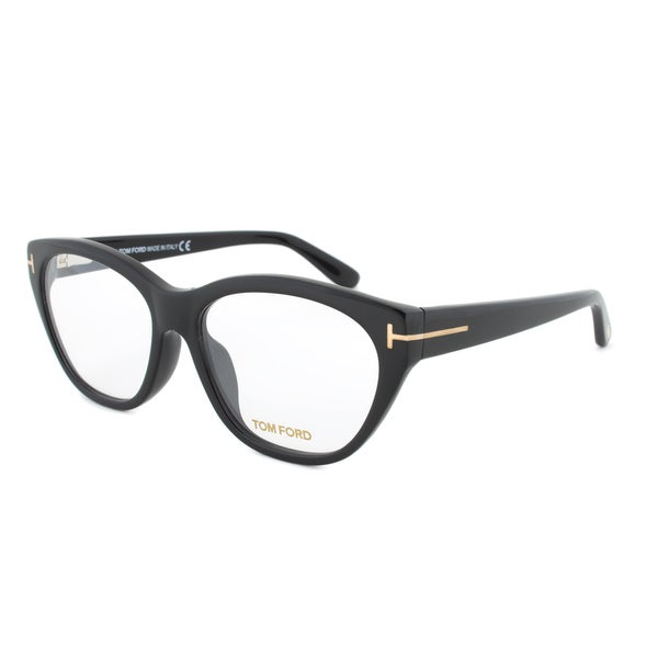 Eyeglass Frame By Size : Tom Ford FT4270 001 Black Cateye Eyeglass Frames - Size 57 ...