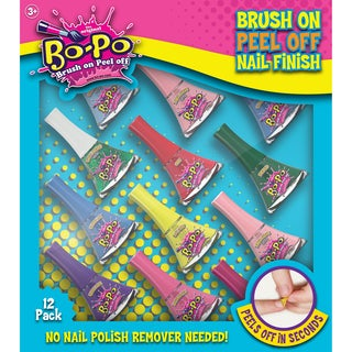 Bo-Po (Brush On Peel Off) Nail Polish 12-piece Party Pack