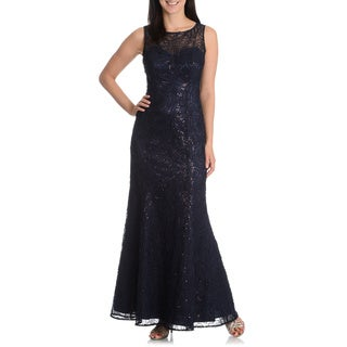 Ignite Evenings By Carol Lin Women's Sequin Soutach Gown