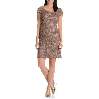 Ignite Evenings By Carol Lin Women's Soutach Sheath Cocktail Dress