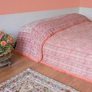 Handmade Jaipur Cotton Quilt (India)