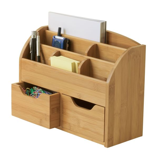 Lipper Bamboo Space-Saving Desk Organizer