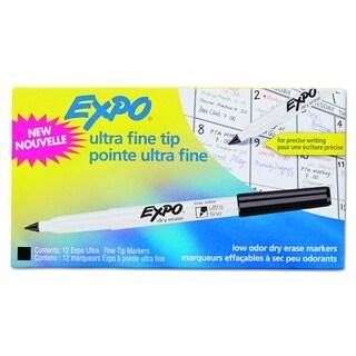 EXPO Low-Odor Black Dry-Erase Marker (Pack of 12)