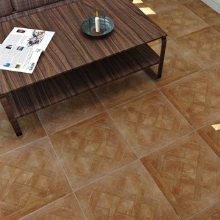 SomerTile 17.75x17.75-inch Pistoiese Roble Ceramic Floor and Wall Tile (Case of 7)