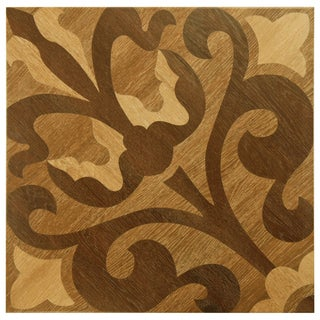SomerTile 17x17-inch Liguria Brown Matte Ceramic Floor and Wall Tile (Case of 6)