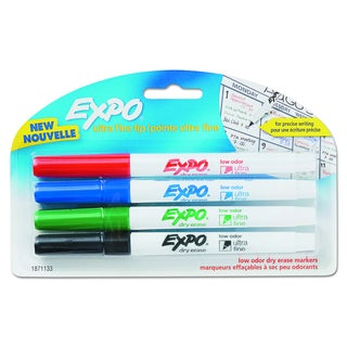 EXPO Low-Odor Assorted Dry-Erase Marker (Pack of 4)