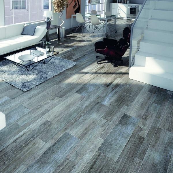 Faux Wood Flooring Reviews: SomerTile Vincoli Gris Porcelain Floor And Wall Tiles