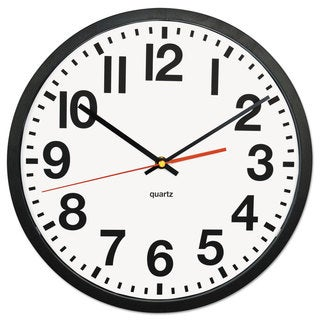 Universal Large Black Numeral Clock