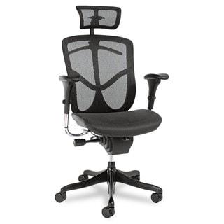 Alera EQ Series Black Base Ergonomic Multifunction High-Back Mesh Chair