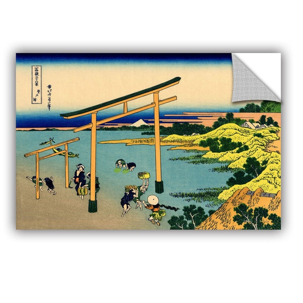 ArtAppealz Katsushika Hokusai 'The Waterfall Of Amida Behind The Kiso Road' Removable Wall Art