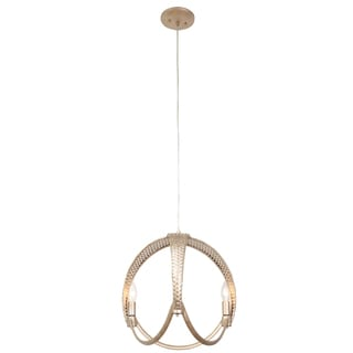 Varaluz Casablanca 3-light Ball Pendant, Zen Gold