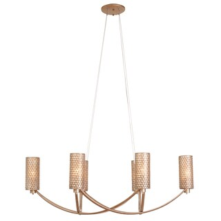 Varaluz Casablanca 6-light Oval Chandelier, Zen Gold