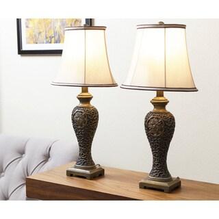Abbyson Living Paulette Gold Table Lamp (Set of 2)