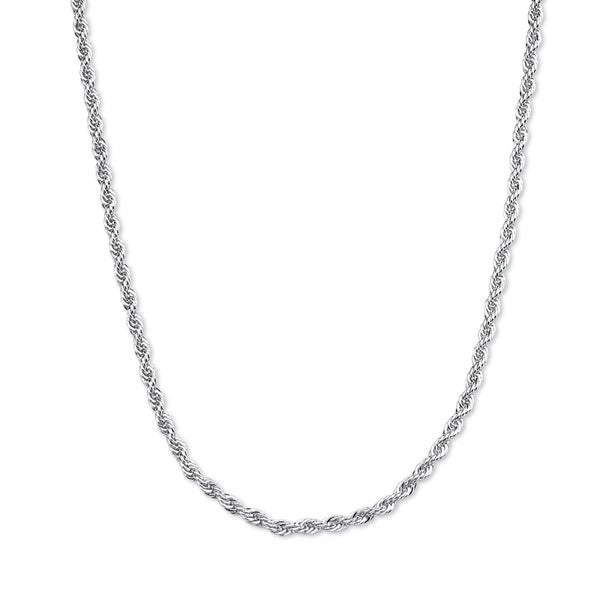 Palm Beach Sterling Silver Tailored Rope Chain