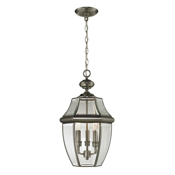 Cornerstone Antique Nickel Ashford 3-light Exterior Hanging Lantern