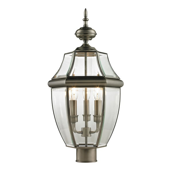 Cornerstone Antique Nickel Ashford 3-light Exterior Post Lantern